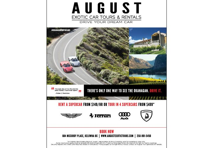 August Exotic Car Tours & Rentals Flatsheet