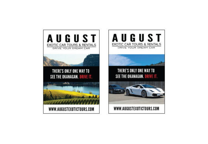 August Exotic Car Tours & Rentals Advertisement