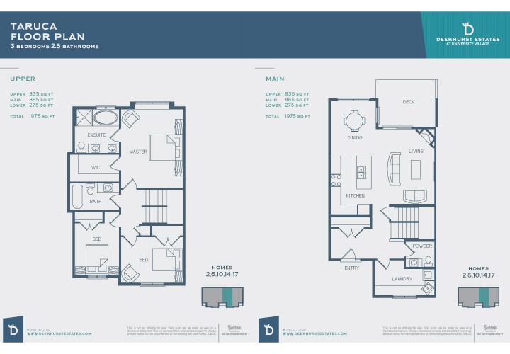 Deerhurst Estates Floorplans